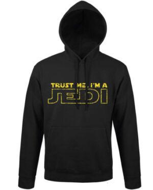 Mikina pánská černá Trust me I'm a JEDI