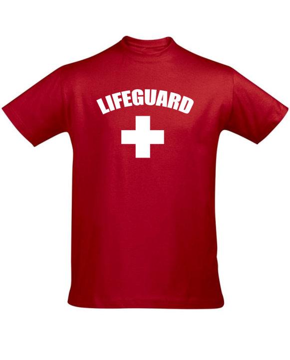 Tričko pánské červené Lifeguard