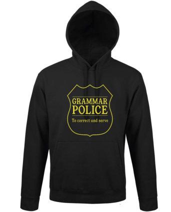 Mikina dámská černá GRAMAR POLICE