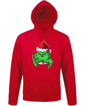 Mikina dámská červená Grinchy Claus