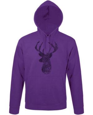 Mikina dámská fialová Deer Fingerprint