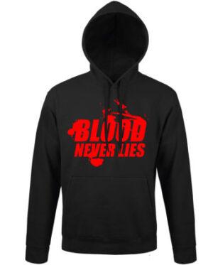 Mikina pánská černá Blood never lies