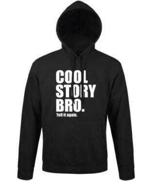 Mikina pánská černá Cool Story Bro