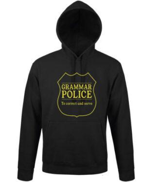 Mikina pánská černá GRAMAR POLICE