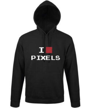 Mikina pánská černá I LOVE PIXELS