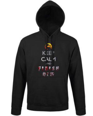 Mikina pánská černá Keep calm and FINISH HIM
