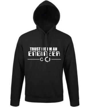 Mikina pánská černá Trust me I'm a Engineer