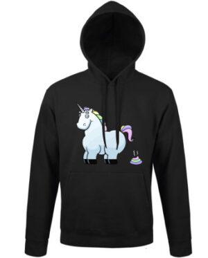 Mikina pánská černá Unicorn