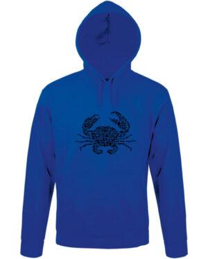Mikina pánská modrá crab