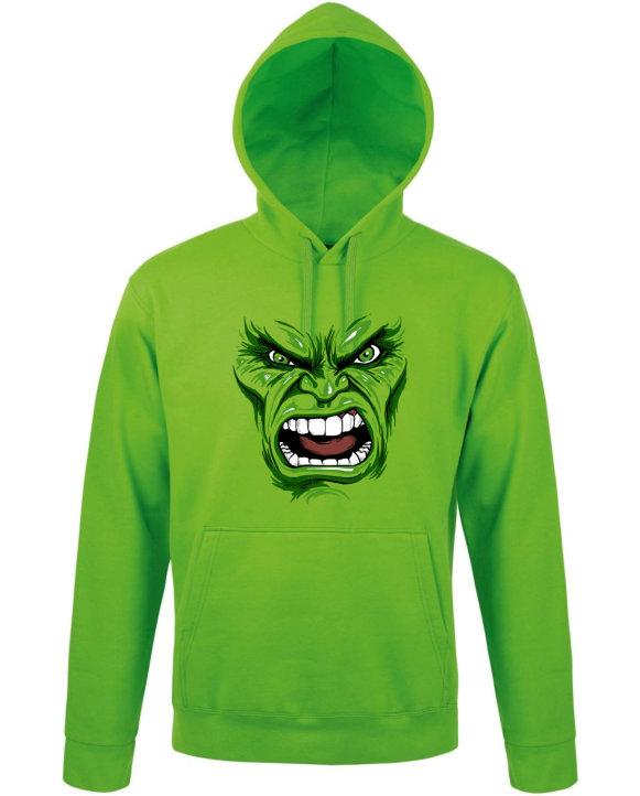 Mikina pánská zelená Hulk