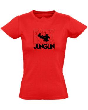 Tričko dámské červené JUNGLER