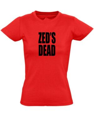 Tričko dámské červené ZED'S DEAD