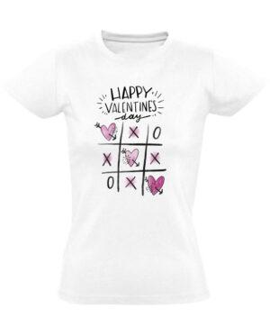 Tričko dámské bílé Happy Valentine's day