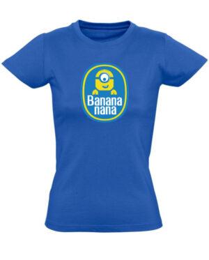 Tričko dámské modré Banana nana
