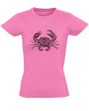Tričko dámské růžové crab