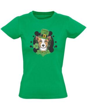 Tričko dámské zelené Cute dog