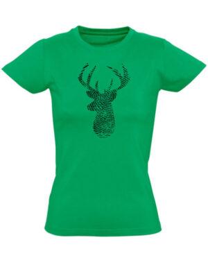 Tričko dámské zelené Fingerprint