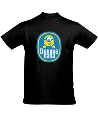 Tričko pánské černé Banana nana