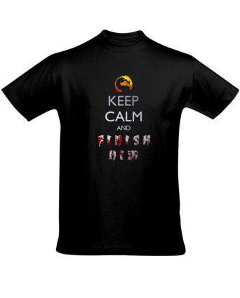 Tričko pánské černé FINISH HIM