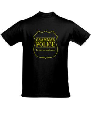 Tričko pánské černé GRAMAR POLICE