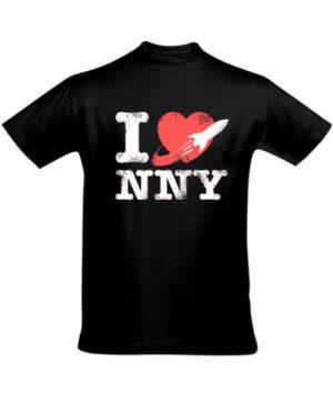 Tričko pánské černé I love New New York