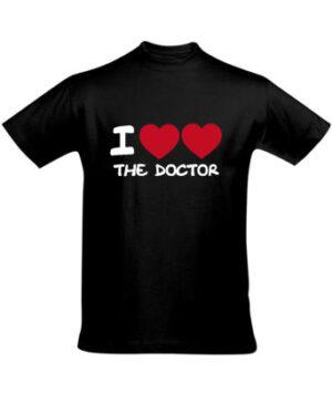 Tričko pánské černé I love the Doctor