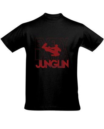 Tričko pánské černé JUNGLER