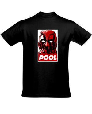 Tričko pánské černé Pool