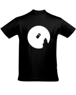 Tričko pánské černé TARDIS on the Moon