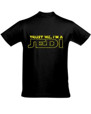 Tričko pánské černé Trust me I'm a JEDI