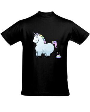 Tričko pánské černé Unicorn