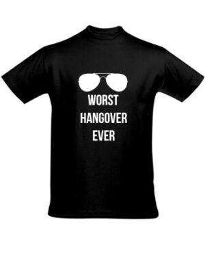 Tričko pánské černé Worst Hangover Ever