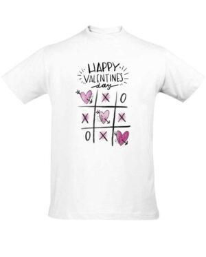 Tričko pánské bílé Happy Valentine's day