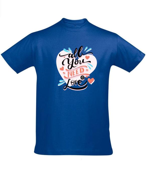 Tričko pánské modré All you need is love