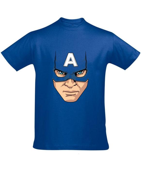 Tričko pánské modré Captain America