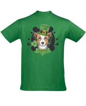 Tričko pánské zelené Cute dog