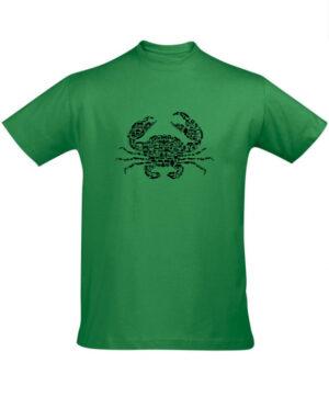 Tričko pánské zelené crab