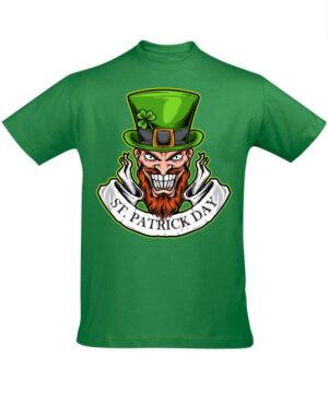 Tričko pánské zelené scary St Patricks day
