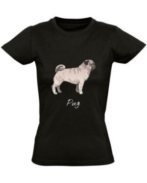 Tricko damske cerne Pug